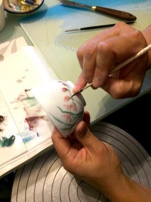 Cours de peinture sur porcelaine