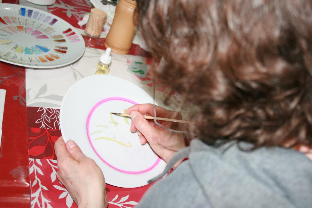 Stage d'Initiation à la Peinture sur Porcelaine Adulte 3 x 3h