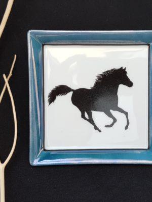 Vide Poche Carré «Black Horse»