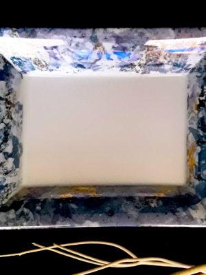 Vide Poche Rectangulaire Luminescence Or Bleu