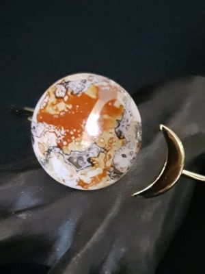 Bracelet Eclipse de Lune Orange et Or